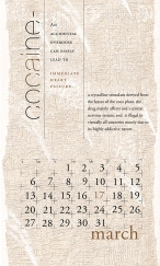 side effects calendar • cocaine [march]
