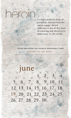 side effects calendar • heroin [june]