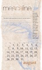 side effects calendar • mescaline [august]