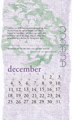 side effects calendar • codeine [december]