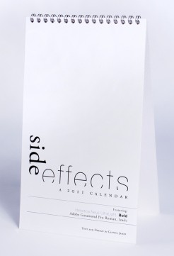 side effects calendar • back cover photo