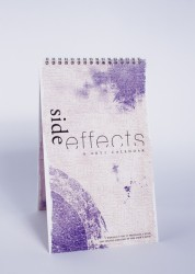 """side effects"" • themed typographic calendar"