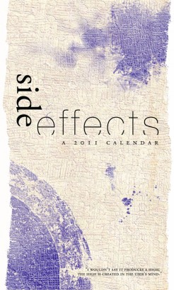 side effects calendar • front cover