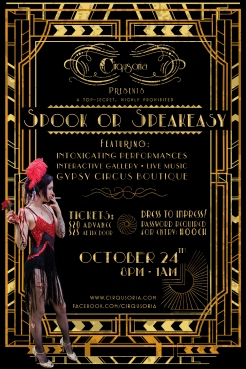 spook or speakeasy flyer