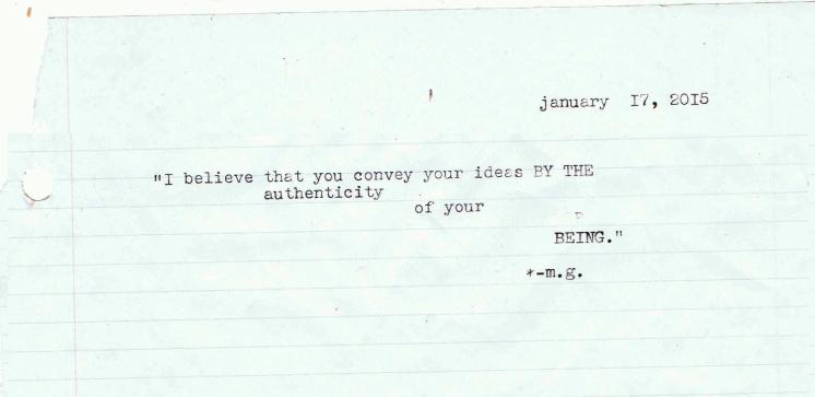 authenticity milton glaser typewriter quote scan