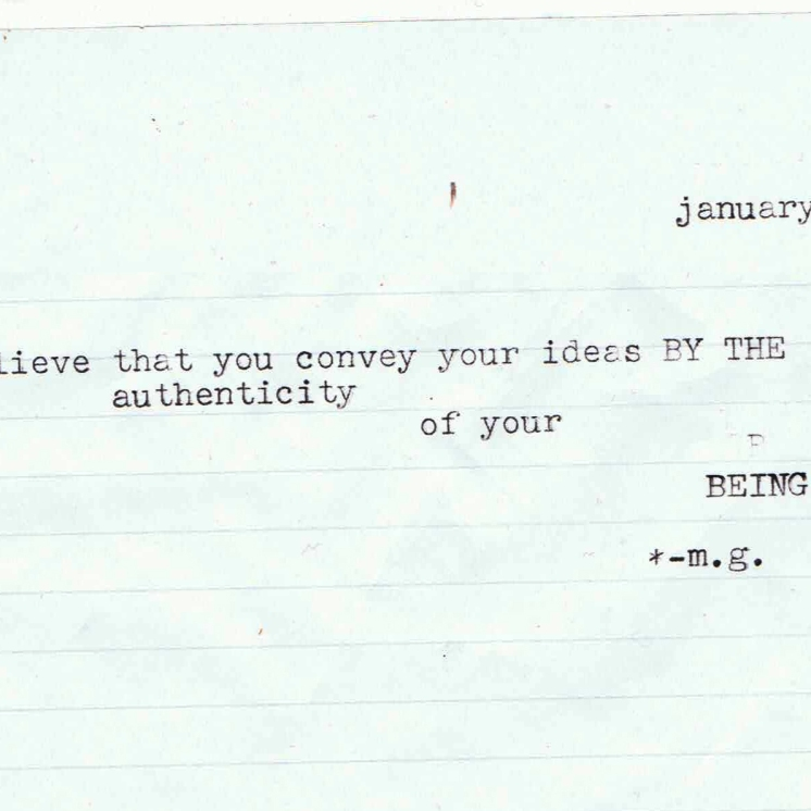 authenticity milton glaser typewriter quote scan