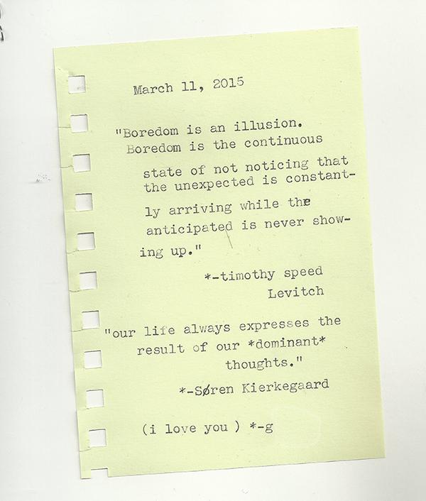 boredom typewriter scan