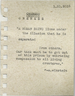 oneness quote typewriter scan