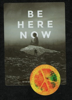 be here now sticker scan